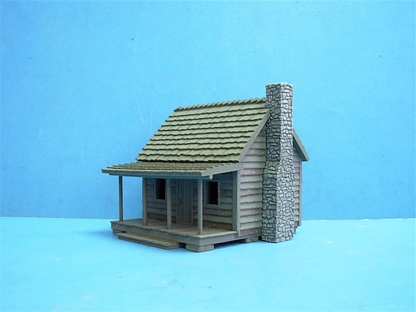 1/72 LOG CABIN A POLYSTONE BUILDING