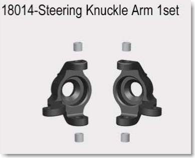 VRX1812-1821 1/18  STEERING KNUCKLE ARM 2SETS