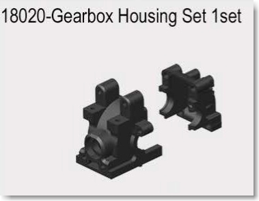 VRX1812-1821 1/18  GEARBOX HOUSING SET 2PCS