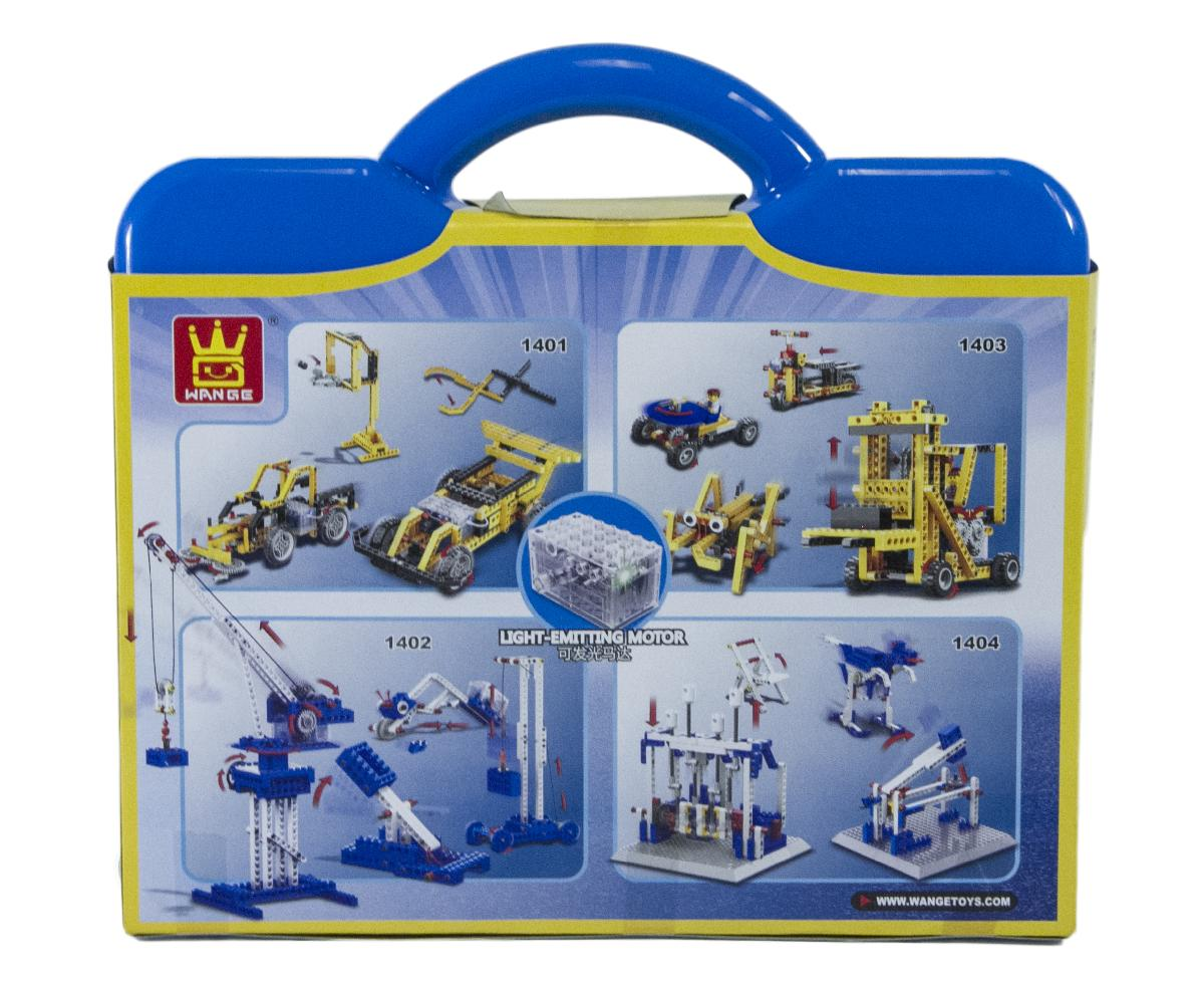4in1 Power Machinery Crane Set (173 Pieces) - 4in1 Crane, Catapult, Catepillars, Weightlifting Machine