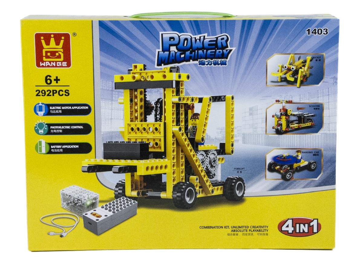 4in1 Power Machinery Cricket Set (292 Pieces) - 4in1 Power Machinery Set 1404 lets you build a Cricket, Scooter, Ranging Car, or a Forklift. Play, take apart, repeat!