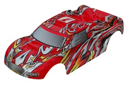 1/8 TRUGGY BODY- RED WITH FLAME