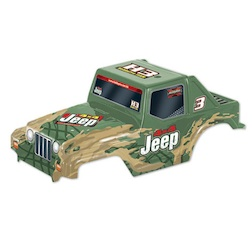 1/10 JEEP BODY (PAINTED GREEN)