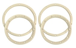 1/5 BEADLOCK WHEEL RING PAIR (WHITE)