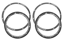 1/5 BEADLOCK WHEEL RING PAIR (CHROME)
