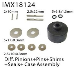 DIFF. PINIONS +PINS+SHIMS+SEALS+ CASE AS