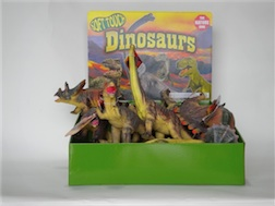 Counter Display Includes 6 assorted Dino Styles, comes with 18 Pieces Total