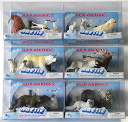 Counter Display Includes 6 Assorted Arctic Animal Styles, comes with 12 Pieces Total