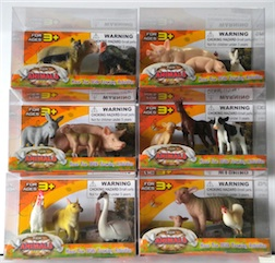 Counter Display Includes 6 Assorted Farm Animal Styles, comes with 12 Pieces Total