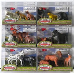 Counter Display Includes 6 assorted animal styles, comes with 12 Pieces Total