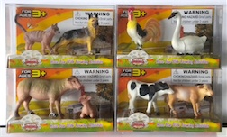 Counter Display Includes 4 Assorted Farm Animal Styles, comes with 24 Pieces Total
