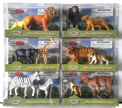 Counter Display Includes 6 Assorted Wild Animal Styles, comes with 24 Pieces Total