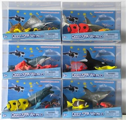 Counter Display Includes 6 Assorted Deep Sea World Styles, comes with 12 Pieces Total