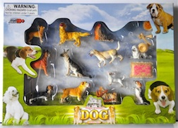Dog Play Set Includes 12 Different Dog Breeds & Accessories