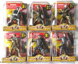 Counter Display Includes 6 Assorted Knight Styles, comes with 24 Pieces Total