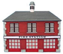 FIREHOUSE HO SCALE