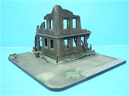 1/72 BOMBED OUT POLYSTONE BUILDING