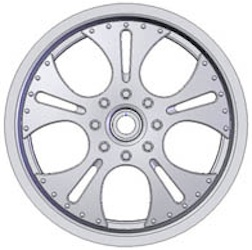 14-17MM FALCON BLACK TRUCK RIMS (4)