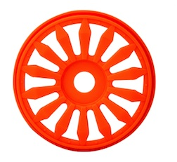1/8 LIZZARD BUGGY RIMS ORANGE (4)