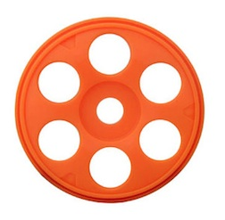 1/8 ST SWEEPER BUGGY RIMS ORANGE (4)