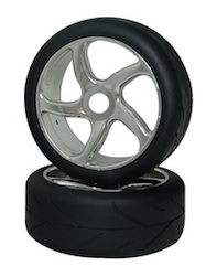 1/8 RALLY TIRE SET (PAIR) CHROME