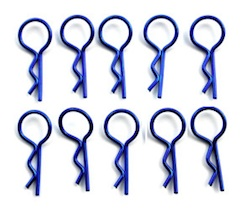 MEDIUM NAVY BLUE BODY PINS (10)