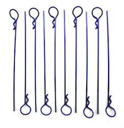 LONG PURPLE BODY PINS (10)