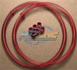 RED COILED FUEL LINE GUARD
