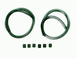 GREEN COILED FUEL LINE GUARD