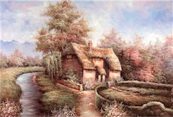 COTTAGE 300 PIECE PUZZLE (DISCONTINUED/COLLECTIBLE)